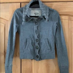 Abercrombie and Fitch Button up sweatshirt